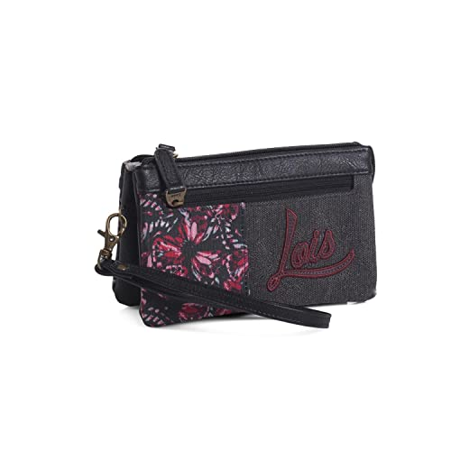LOIS - Monedero Triple de Mujer Waves, Color Negro: Amazon ...