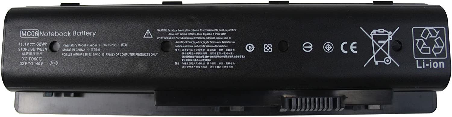 Gomarty 11.1V 62WH New MC06 Battery for HP Envy 15 17-n000na 17t-n100 17t-n000 M7-N000 m7-n109dx HSTNN-PB6L HSTNN-PB6R MC04 TPN-C123 804073-851 805095-001 806953-851 807231-001