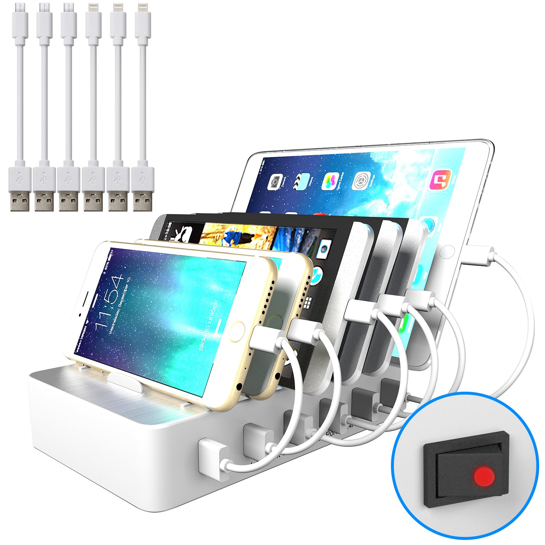 usb handy und tablet multi ladestation hub f r mehrere ger te mit schalter neu ebay. Black Bedroom Furniture Sets. Home Design Ideas