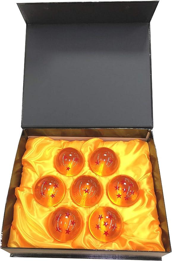 Outletdelocio. Set 7 Bolas Gigantes XXL metacrilato Estrellas Dragon Ball Z. Diametro 76mm. En Estuche de Regalo: Amazon.es: Juguetes y juegos