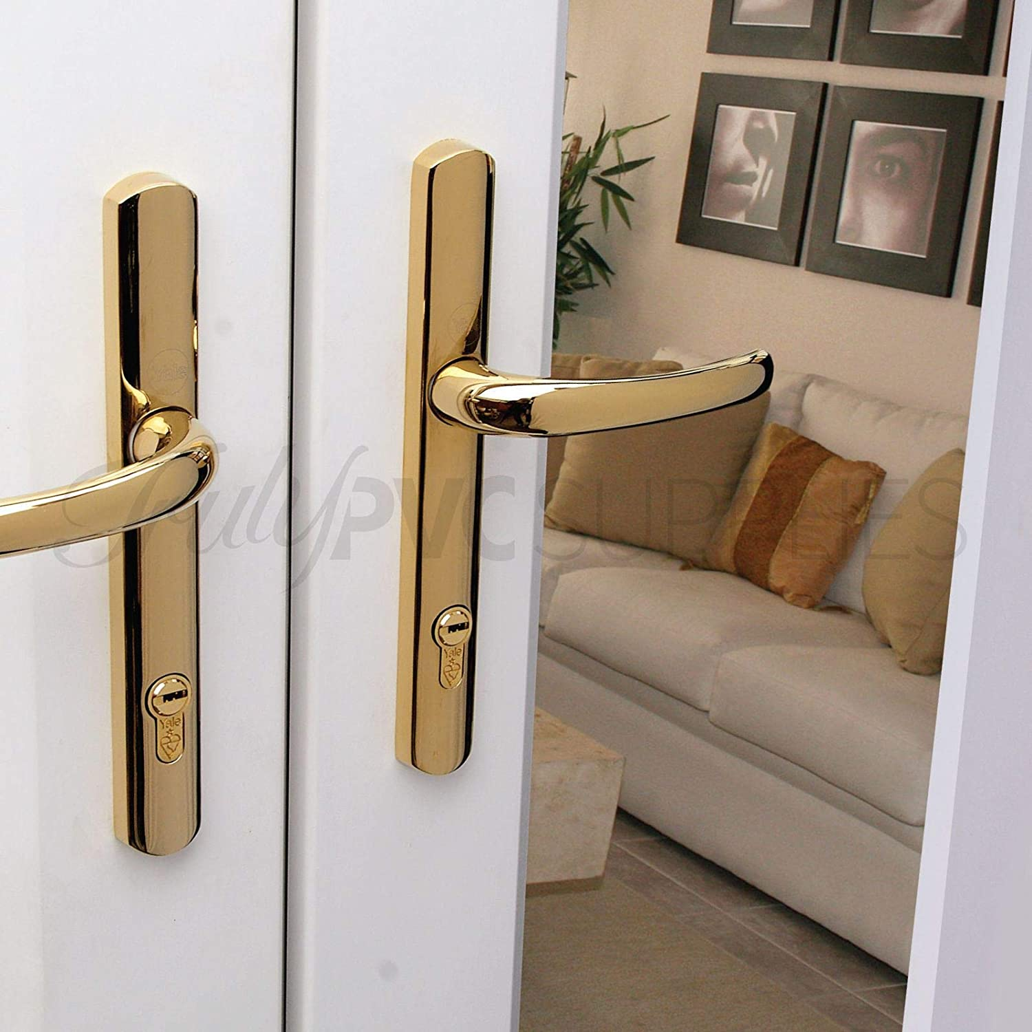 Polished Brass Yale 1 Star BKDHS NKDHS-YL1 45//55 Cylinder