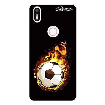 dakanna Funda para BQ Aquaris X5 Plus | Balón de Fútbol en Llamas ...