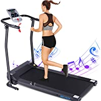 ANCHEER Folding Treadmill, Treadmills for Home with LCD Monitor Motorized,Pulse Grip and Safety Key, Indoor Exercise…