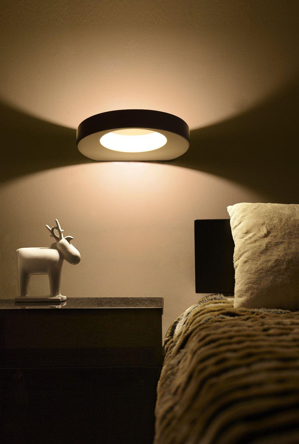 Lanfu 10 W lampada design moderno bianco caldo Lampada parete ...