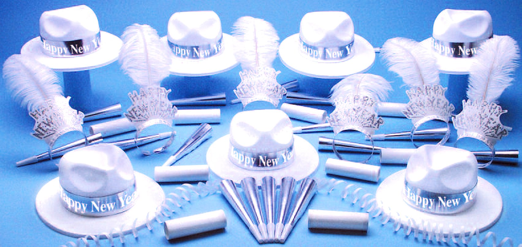 Silver Paradise Bay Party Kit Happy New Year for 50 by PTMFG