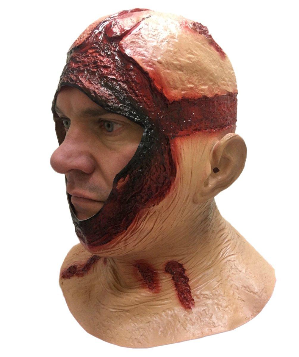 Sangriento Capucha Máscara completa látex Jason Halloween Terror Disfraz de película Máscaras: Amazon.es: Juguetes y juegos
