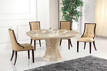 Sensational Marcello Marble Large Round Dining Table With 6 Chairs Download Free Architecture Designs Embacsunscenecom
