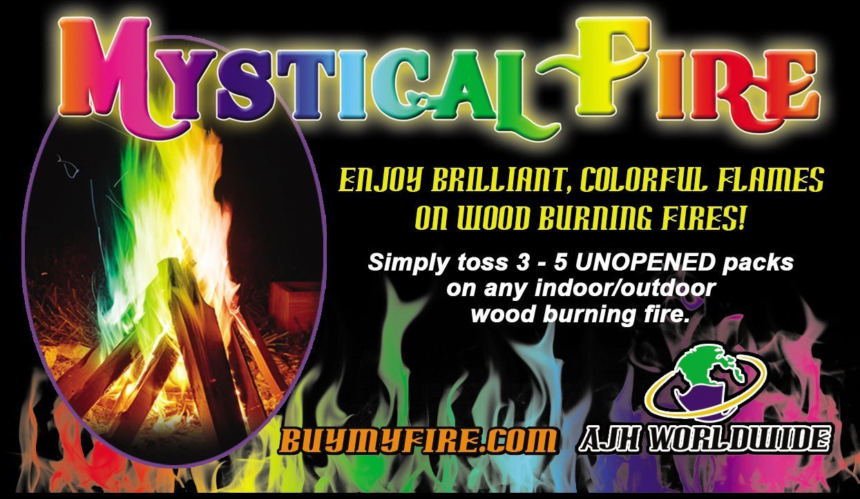 Mystical Fire - Adds Colorful flames to a Campfire - 24 Packs by Mystical Fire