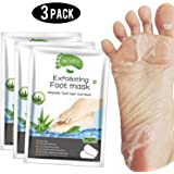 Foot Peel Mask 3 Pack, Exfoliator Peel Off Calluses Dead Skin Callus Remover,Baby Soft Smooth Touch Feet-Men Women (Aloe Vera