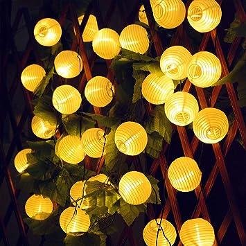 Farolillos Solares Exterior, Konesky Guirnaldas de Luces, 30 LED Luces Terraza Exterior, Impermeable Decoracion Jardin Para Exteriores, Bodas, Jardín,Fiesta: Amazon.es: Bricolaje y herramientas