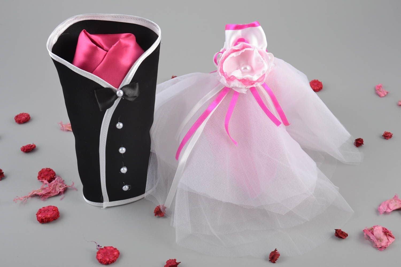Trajes para botellas de boda conjunto de ropa de novios original 2 ...