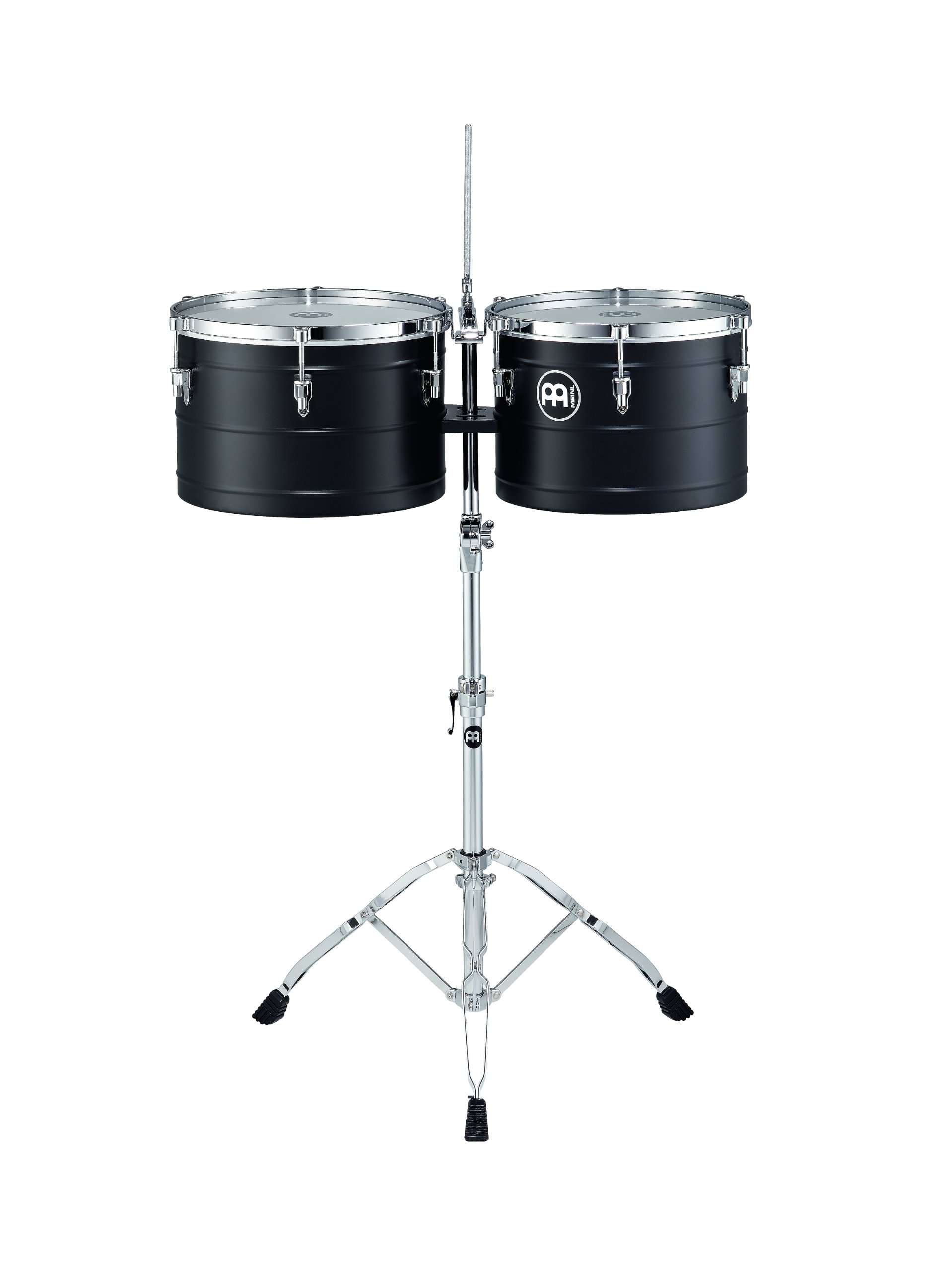Meinl Percussion MTT1415BK Marathon Series Turbo 14 and 15 Inch Deep Shell Timbales, Black