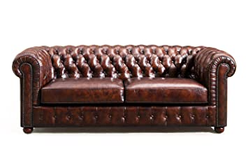 Original Chesterfield Leather Sofa By Rose U0026 Moore