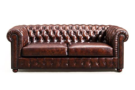 Charmant Original Chesterfield Leather Sofa By Rose U0026 Moore