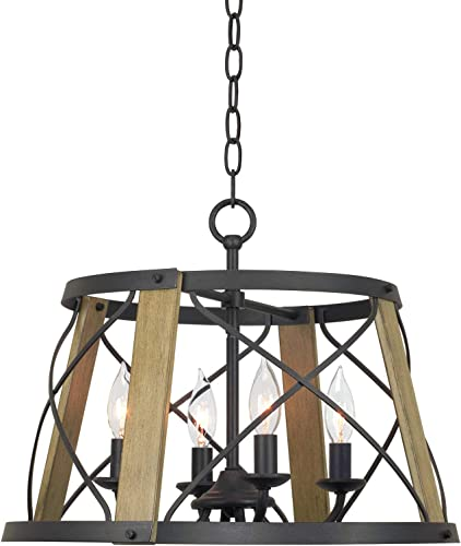 Kira Home Napa 18″ 4-Light Modern Farmhouse Chandelier