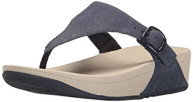 ae02219da FitFlop Women s The Skinny Canvas Toe Thong Flip Flop Midnight Navy 6 M US