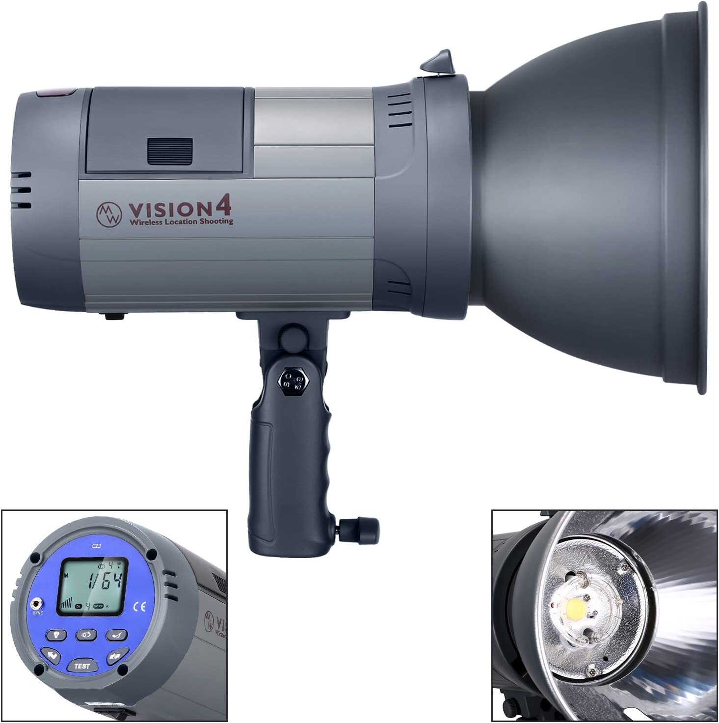 Trigger included Bowens Mount 3.96 Pounds with White Umbrella and 60x90cm Softbox 700 Full Power Flashes with 2.4G System Li-ion Battery Powered Neewer Vision 4 Outdoor Studio Flash Strobe Kit