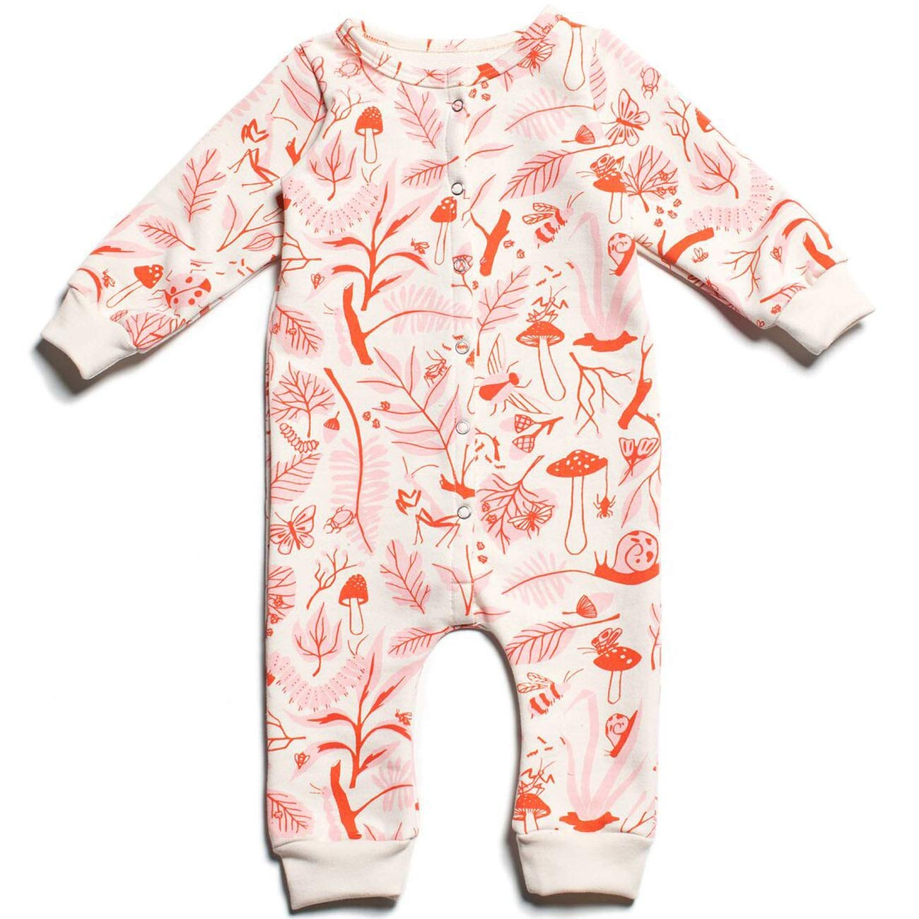 Winter Water Factory Unisex-Baby Organic French Terry Jumpsuit