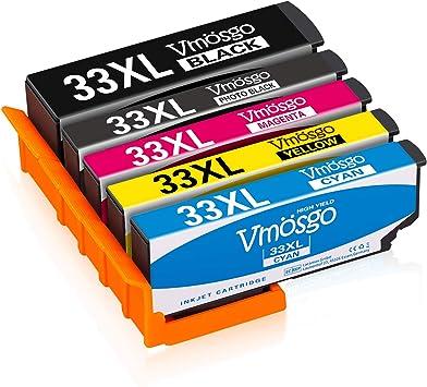 Vmosgo 33XL Reemplazo para Epson 33 Cartuchos de Tinta, para Epson ...