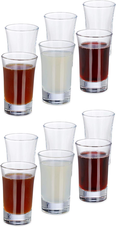 Relaxdays Set de 12 vasos para chupitos, Juego de vasos para ...