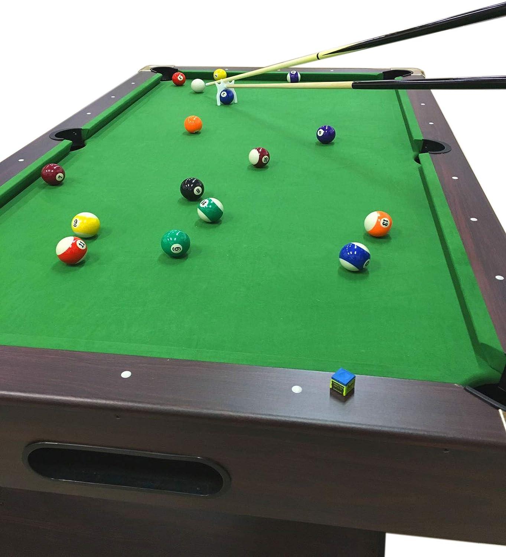 GRAFICA MA.RO SRL Mesa de Billar 8FT Juegos de Billar Modelo Leonida Full Optional Carambola Medición 220 x 110 cm: Amazon.es: Juguetes y juegos