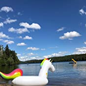 Jasonwell Big Inflatable Unicorn Pool Float Floatie Ride