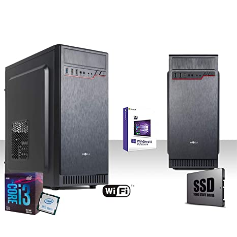 PC Desktop Completo Intel I3-9100F 4,2 GHz 9° Generación, Licencia Windows 10 Pro 64 bit/WiFi 300 Mbps/Ssd 240 GB/Ram 8 GB ddr4 2400 MHz/Reproductor ...