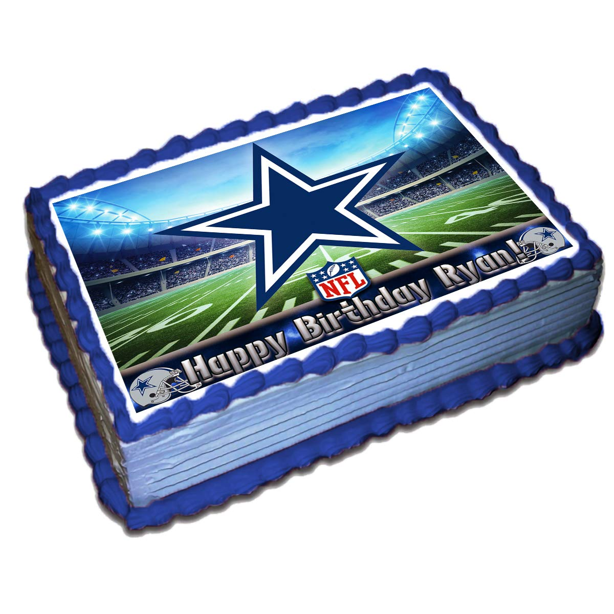 Dallas Cowboys NFL Personalized Cake Topper Icing Sugar Paper