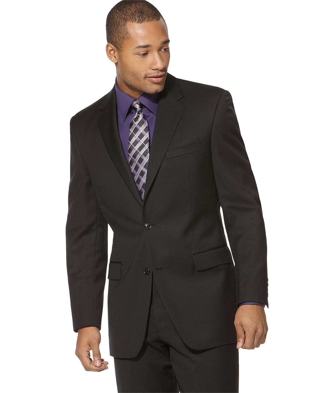 Calvin Klein Mens 2PC Wool Two-Button Suit MTCH25FX0345