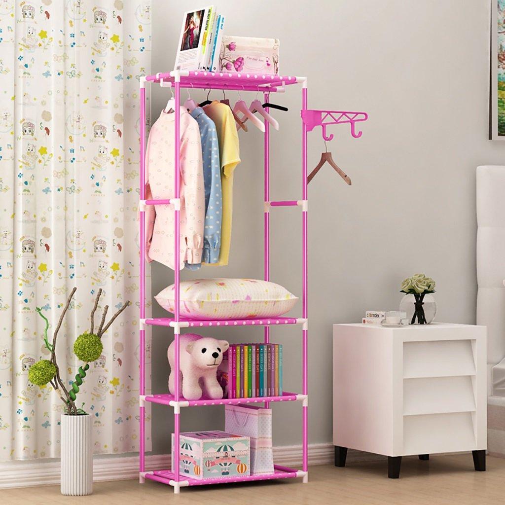 LXLA- シンプルコートラックフロアリング衣類ハンガーホステルハンガーベッドルームフック玄関収納棚170 X 55 X 32 Cm ( 色 : ピンク ぴんく ) B079YZ1HL1  ピンク ぴんく