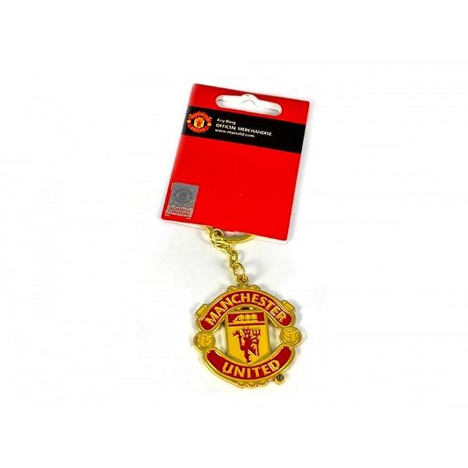 Amazon.com: Manchester United FC oficial de fútbol llavero ...