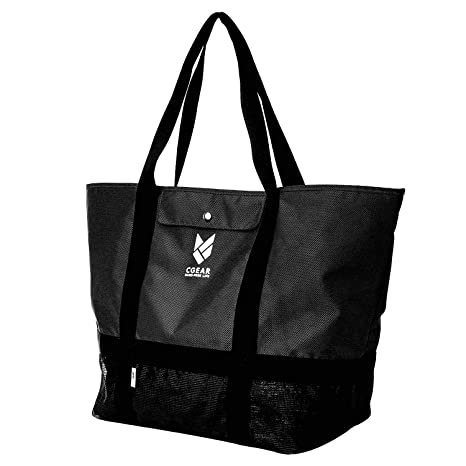 bf196685d CGear Sand-Free Tote Bag II - Patented Mesh Technology Meets Waterproof  Nylon Upper for
