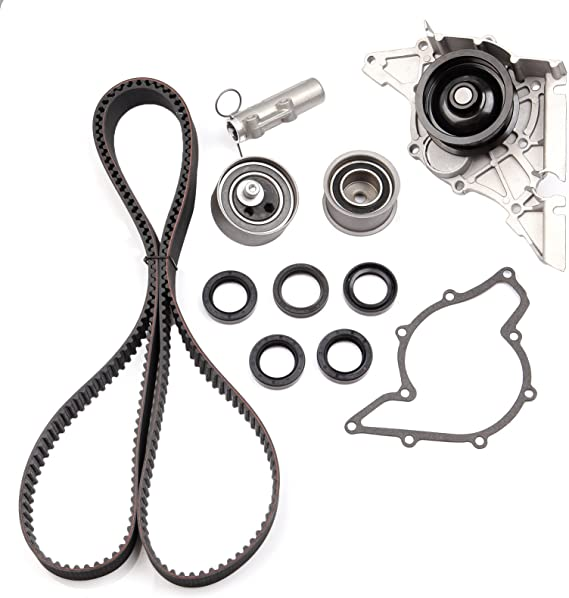 OCPTY Timing Belt Tensioner Bearing Water Pump with Gasket Complete Timing head gasket Kit Fit 1998 1999 2000 2001 2002 2003 2004 2005 Volkswagen Passat 2.8L 2771CC V6 GAS DOHC