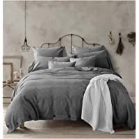 Doffapd Duvet Cover King, Washed Cotton Duvet Cover Set - 3 Piece