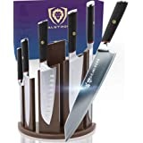 DALSTRONG Knife Block Set - 6-Piece w/Magnetic Knife Stand - Phantom Series - Japanese High-Carbon - AUS8 Steel - Pakkawood H