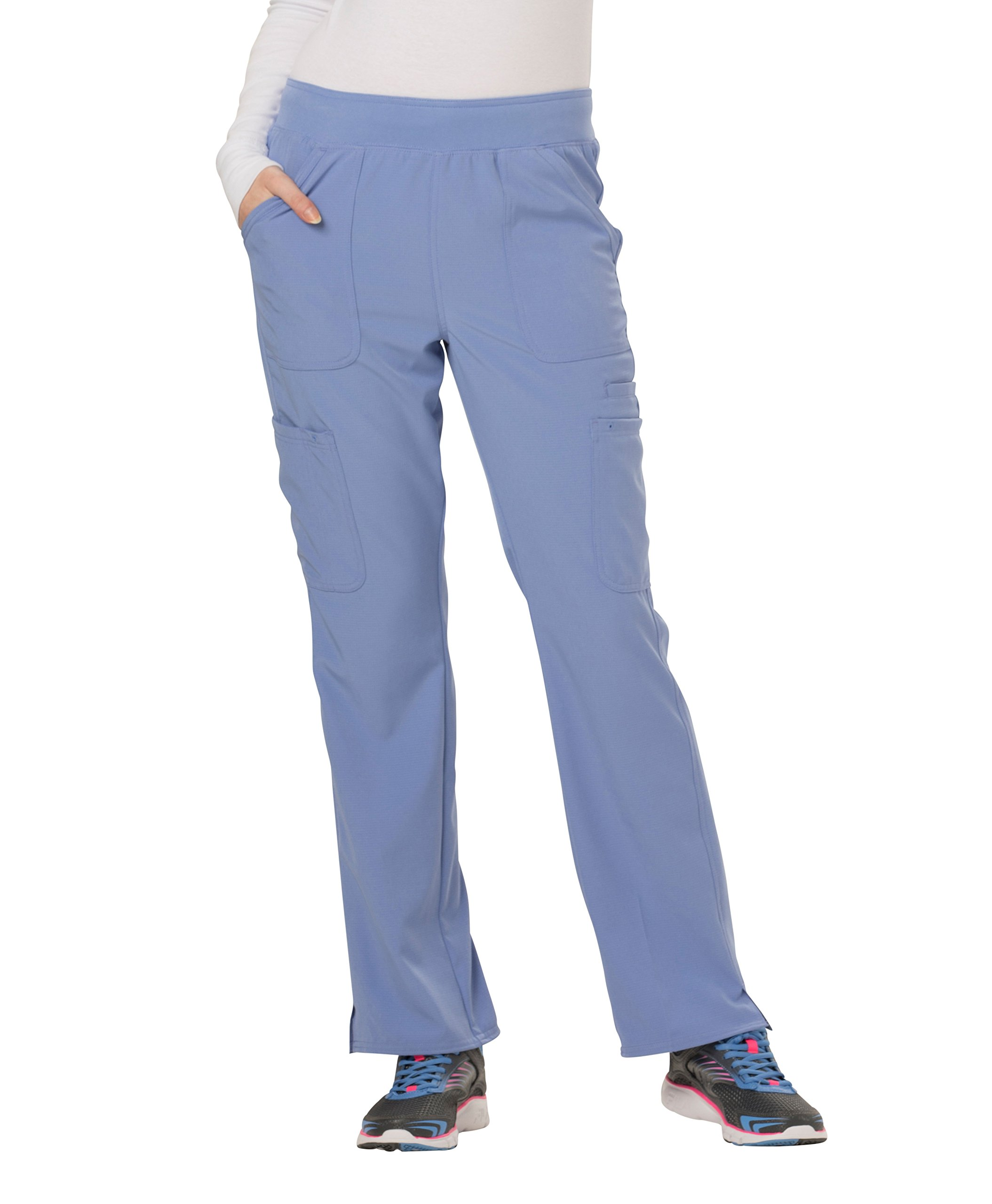 HeartSoul Women's HS020'' Drawn To Love Low Rise Pull-On Cargo Pant- Ceil Blue- Small Petite