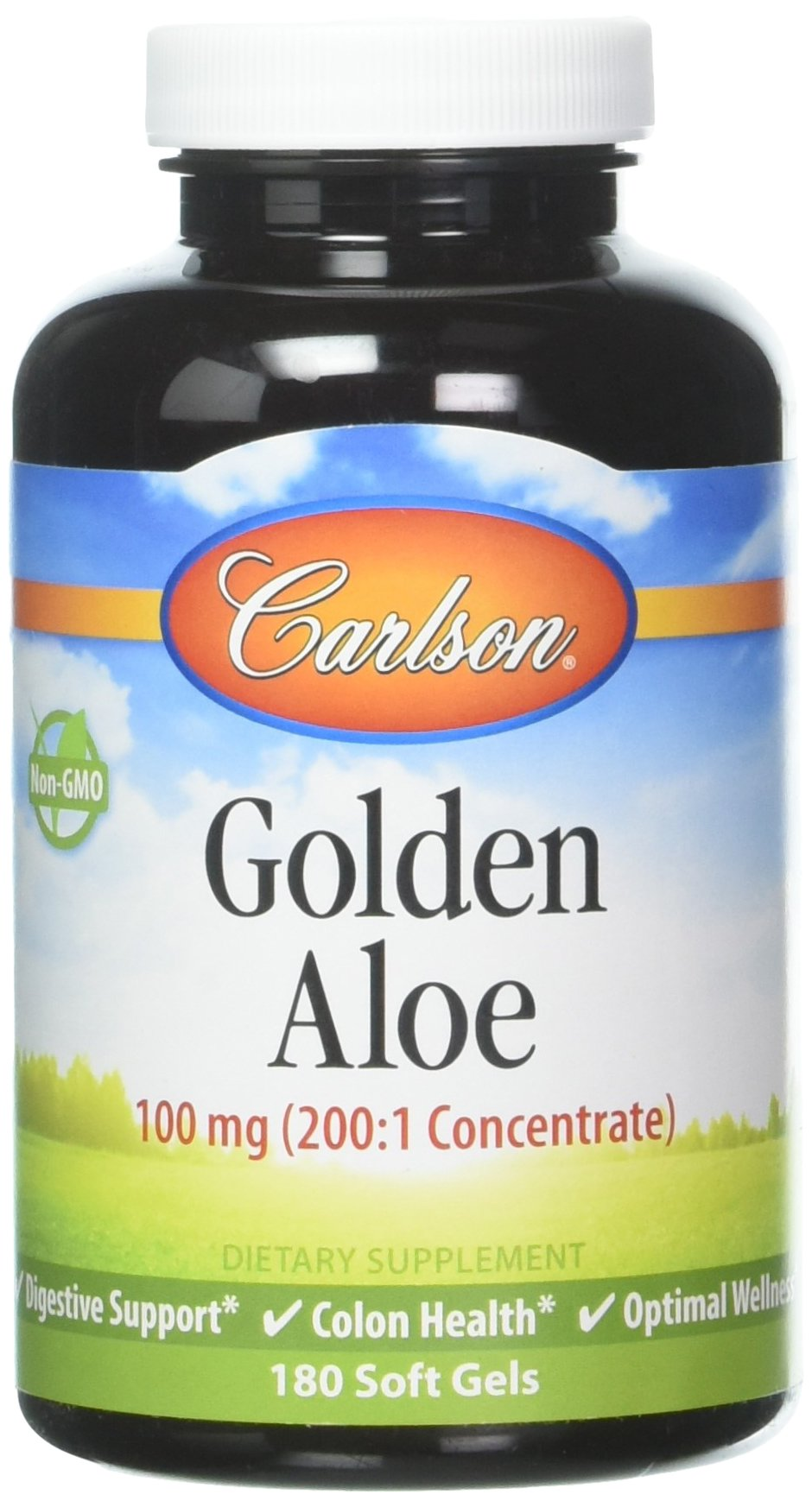 Carlson Labs Golden Aloe 100mg Soft-gels, 180 Count