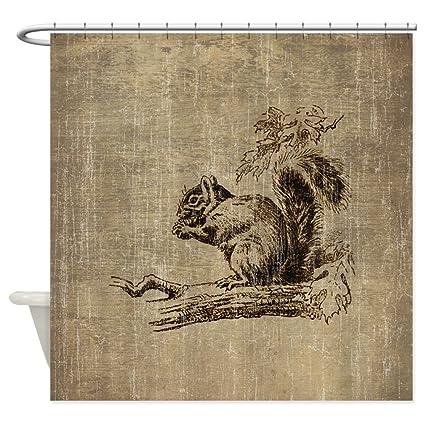 CafePress Vintage Squirrel Shower Curtain Decorative Fabric 69quot