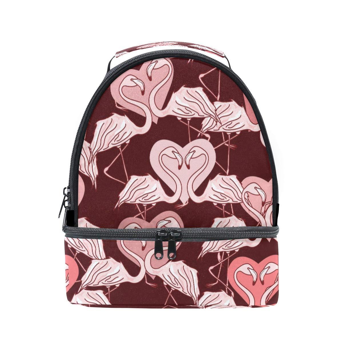 ALAZA Love Heart - Bolsa de almuerzo para el aire libre, diseño de flamencos