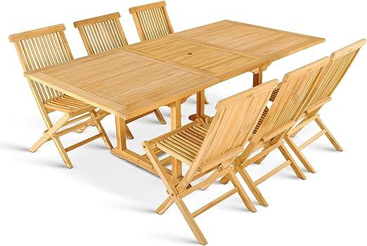 XXS ® caracas meuble de salon de jardin 7 pièces en teck ...