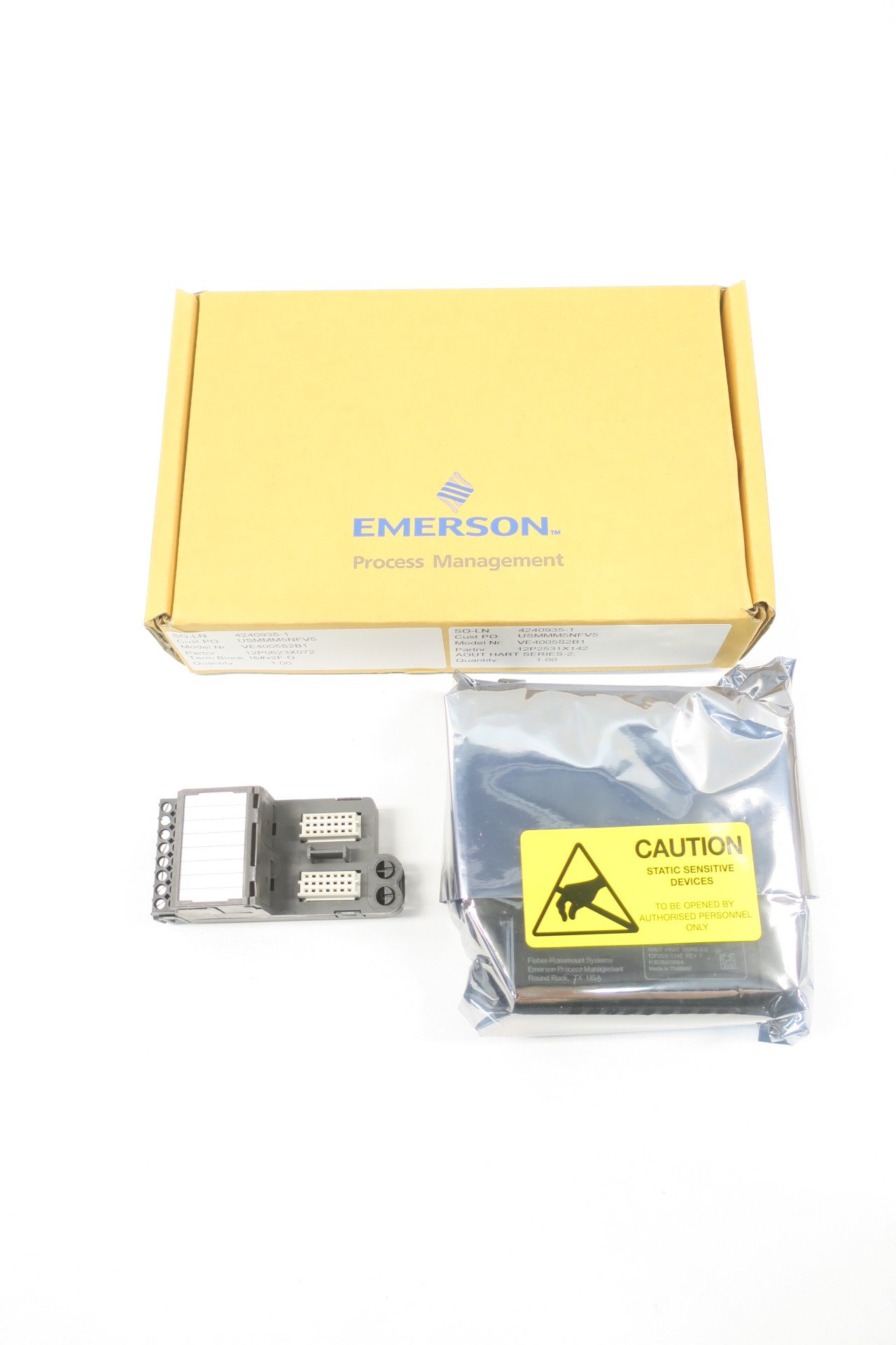 EMERSON KJ3221X1-BA1 HART ANALOG REV T OUTPUT MODULE D587621 by Emerson (Image #1)