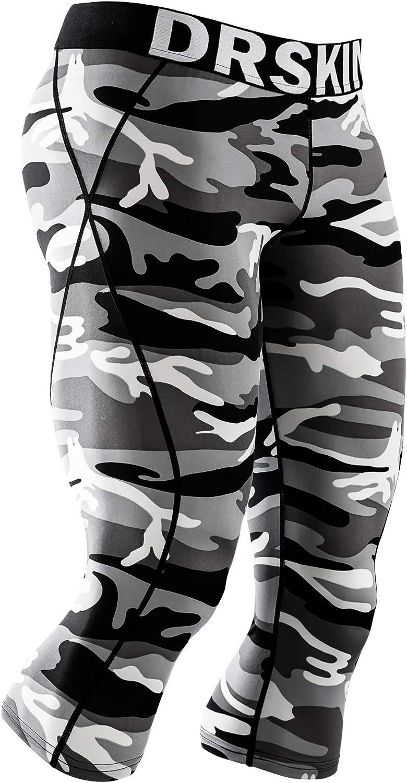 Men Compression Sports Running Pants Gym Stretch Slim Fit Cycling Skins Short Y3