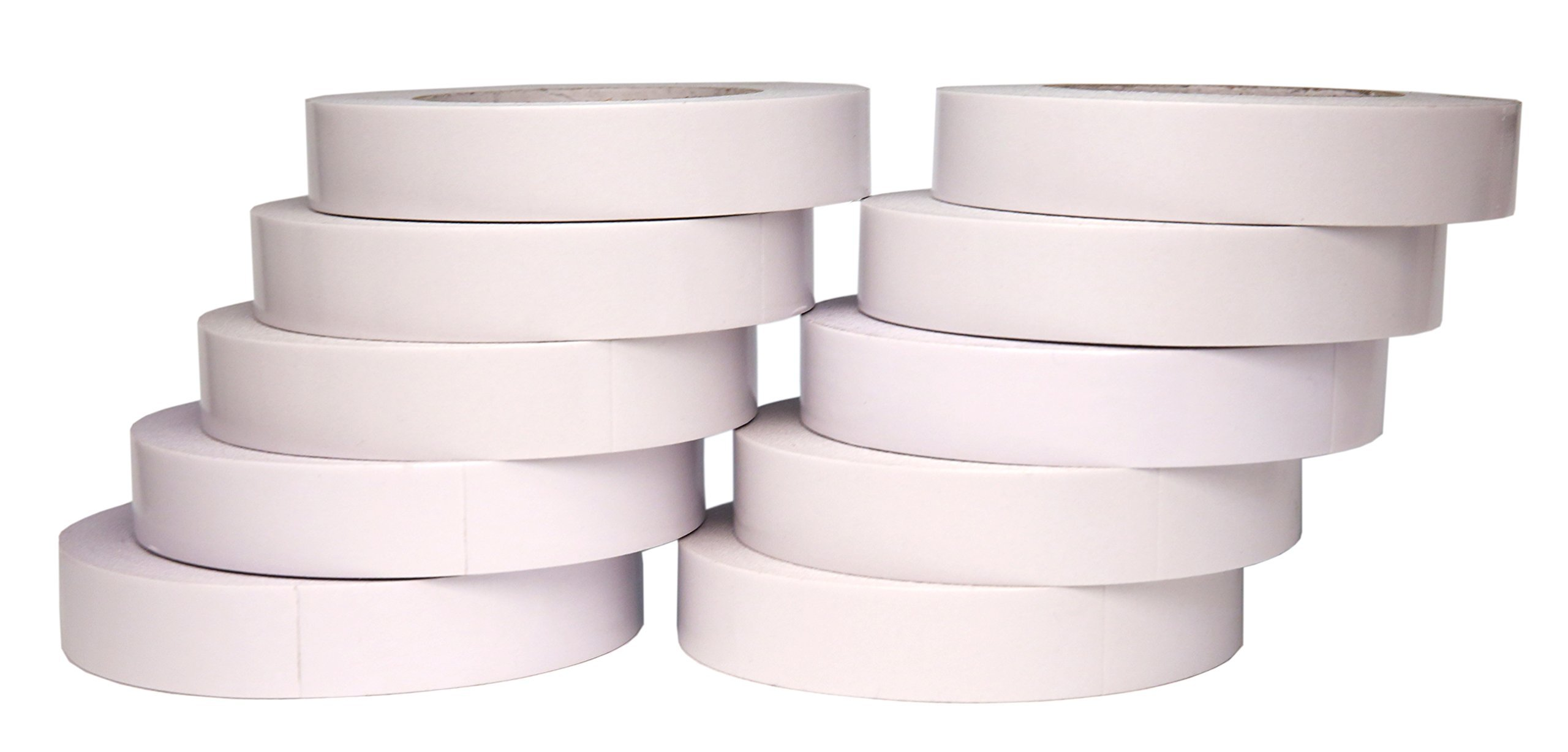 AJ Sign World (Pack of 10) 1'' Heavy Duty Banner Hem Double Sided Permanent Tape (1-Inch x 164-Feet/55 Yard) New Strength!