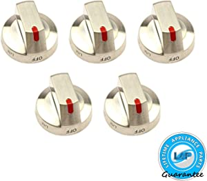 Lifetime Appliance 5 x DG64-00473A Burner Knob Dial for Samsung Range Oven