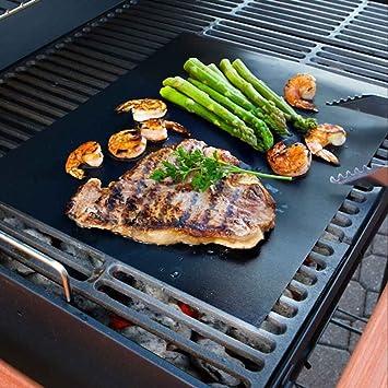 Tapete de cocción para barbacoa y horno + pinzas para BBQ de silicona.