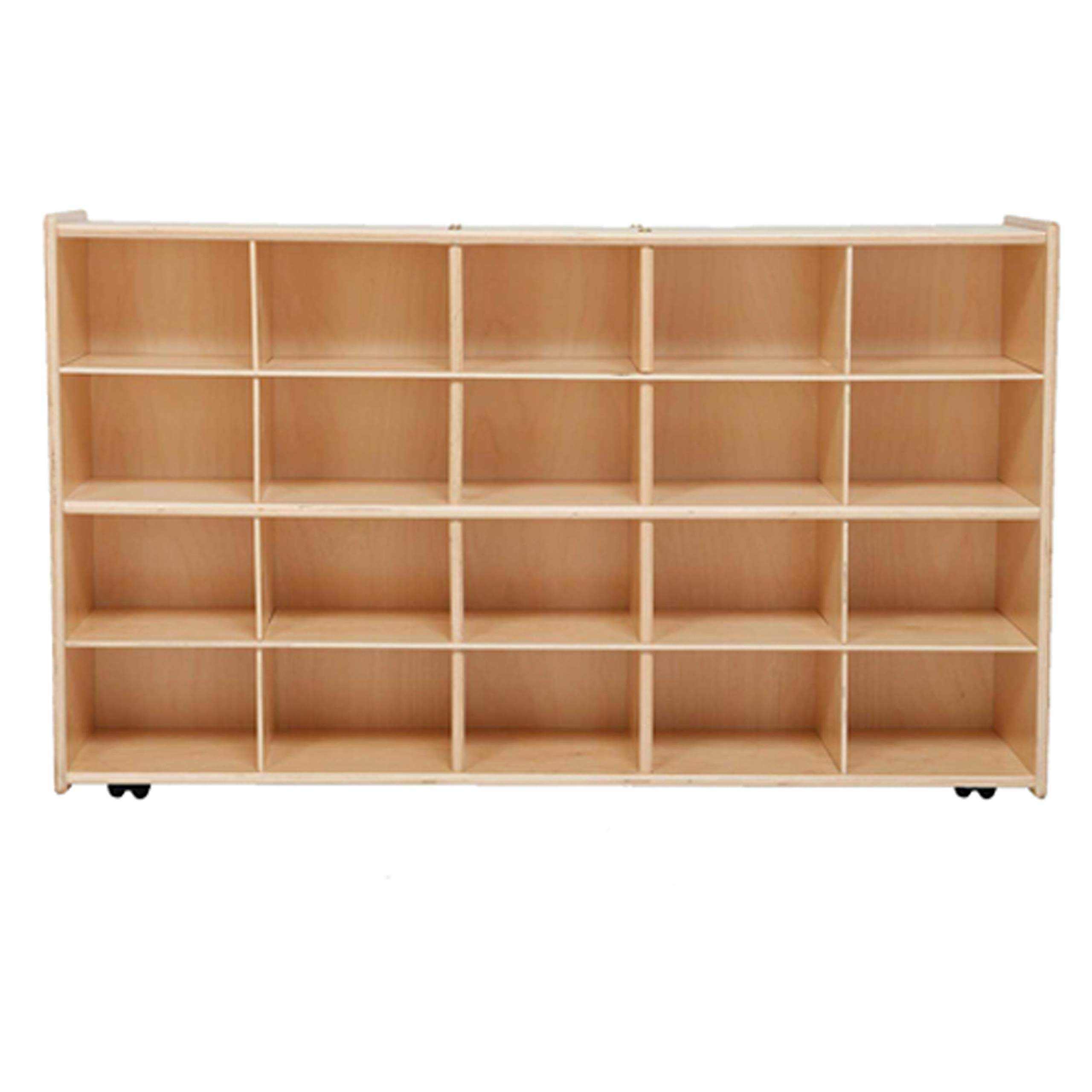 Contender Baltic Birch 20 Cubby Storage Unit - Assembled with Casters by Contender