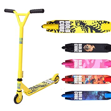 BOLDCUBE Patinetes de Acrobacias - Freestyle Pro Truco de 360 Grados - Plataforma de Aluminio Liviana - Freestyle Stuntscooter para Adultos y niños ...