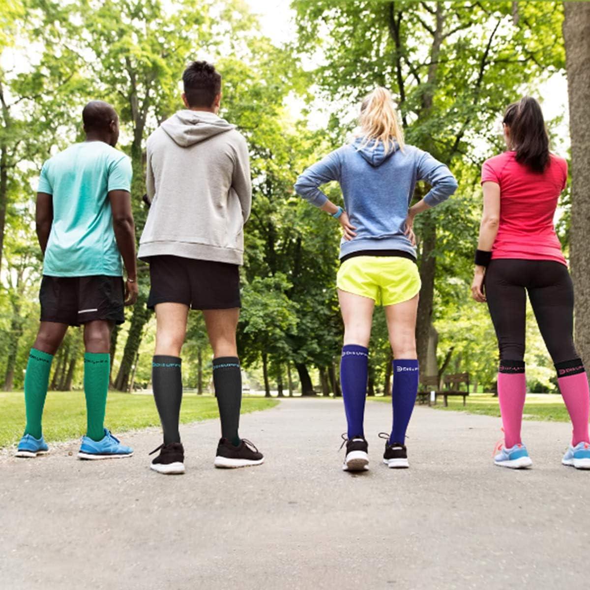 Calze a Compressione per Uomo e Donna Sindromi Tibiali Circolazione E Il Recupero DISUPPO Calze da Calcio Il Miglior Equipaggiamento per La Corsa Gravidanza Infermieri Viaggi