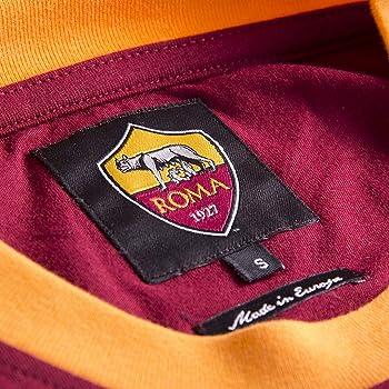 AS Roma Mens 1978-79 Retro Football Round Neck T-Shirt