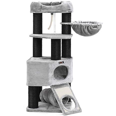 Amazon.com: FEANDREA UPCT02W Árbol para gatos, torre grande ...